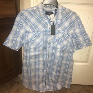Short Sleeve Button-down Buffalo Shirt
